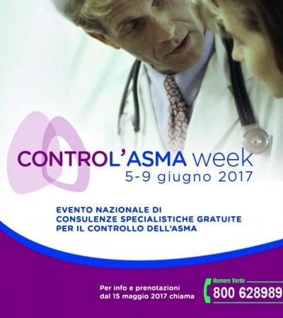 CONTROL'ASMA dal 5 al 9 giugno 2017 in tutta Italia
